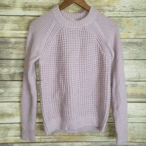 Rebecca Taylor cable knit lilac sweater